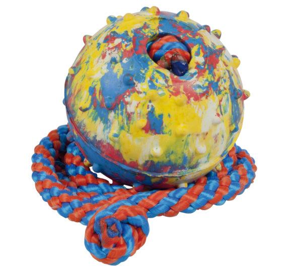 Hundleksak Boll med gummi med rep Gappay